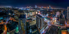 Wallpapers Philippines Megalopolis Manila From above night time