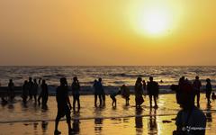 Juhu Beach in Mumbai charming and immense