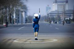 police north korea cop baton