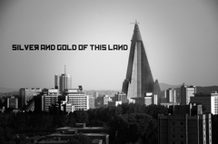 cityscapes buildings North Korea monochrome Pyongyang