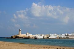 Beach Beach Sand Sky James Storey Musanden Lighthouse Oman
