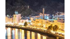 Harbor Lights Muscat Oman 4K Wallpapers