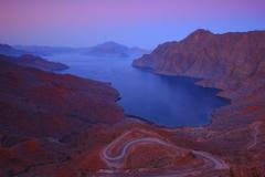Khor Najd Near Khasab Musandam Fjords Oman Arabian Peninsula