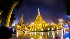 Shwedagon Pagoda Temple on Myanmar Country Wallpapers