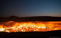 Door To Hell Darvaza Turkmenistan Wallpapers Desktop Backgrounds