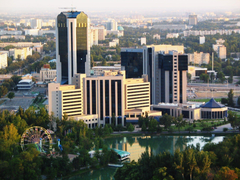 tashkent capital town buildings uzbekistan business center tree HD