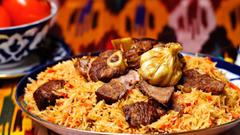 SimplyWallpapers Uzbekistan food traditional food uzbek pilov