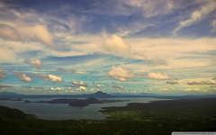 Long view of taal volcano wallpapers