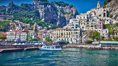 At the pier at a resort in Amalfi Italy wallpapers and image