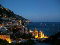 Evening lights at the resort in Amalfi Italy wallpapers and