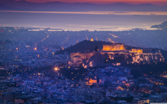 Athens by night 4K HD Desktop Wallpapers for 4K Ultra HD TV Wide