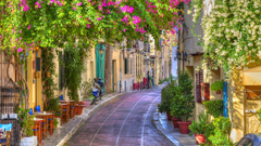 Side Street in Athens Greece HD Wallpapers