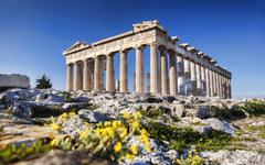 wallpapers Acropolis of Athens 4k landmark summer ruins