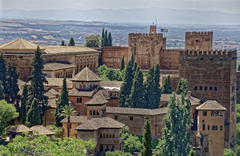 Wallpapers Spain Fortress Alhambra Granada Castles Cities