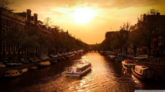 Canal Cruiser Amsterdam HD desktop wallpapers Widescreen High