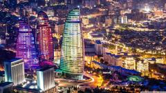 Flame Towers Baku Azerbaijan HD desktop wallpapers Fullscreen