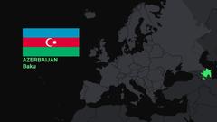 flags Europe maps Azerbaijan