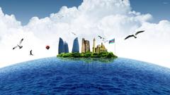 Baku as an island wallpapers