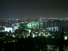 BAKU AT NIGHT Da st park Baku Azerbaijan