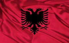 Bandera de Albania fondos de pantalla