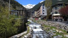 Rivers Rocks Ainsal Andorra Stream Mountains Village Wallpapers