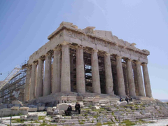 Petronotis Acropolis Parthenon Famous Greek Building Wallpapers