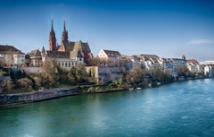 Wallpapers river home Switzerland Rhine Basel image for desktop