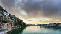 Basel Switzerland Rhine River