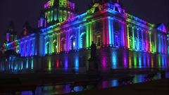 Belfast City Hall in lights