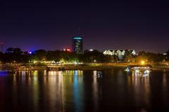 Image Serbia Belgrade Coast Rivers night time Cities
