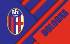 wallpapers Bologna FC logo 4k material design football