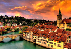 Bern Switzerland Cityscape Bakgrund and Bakgrund