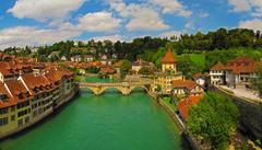 Photo Switzerland Bern Bridges Rivers Cities Houses