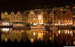 Bergen Norway Night 4K HD Desktop Wallpapers for 4K Ultra HD TV