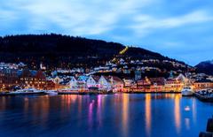 Wallpapers Norway Bergen Sea Sky Marinas Cities Building