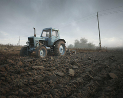 wallpapers field belarus tractor the sky 3d with