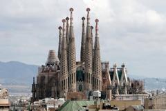 The magnificent la sagrada familia church in Barcelona