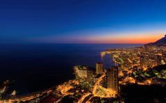 Beautiful Monaco City At Night Wallpapers Deskt Wallpapers