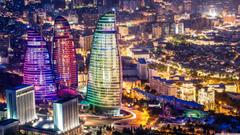 Flame Towers Baku Azerbaijan 4K HD Desktop Wallpapers for