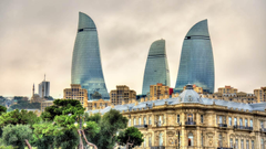 Flame Towers and skyline of Baku Azerbaijan wallpapers by T1000