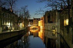 Wallpapers Belgium Rivers Houses Bruges Canal Cities photo