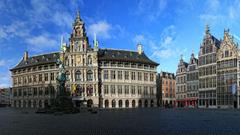 Wallpapers Belgium Houses Monuments Antwerpen Street Cities