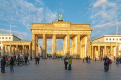 stock photo of behind berlin brandenburg gate