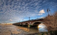 Wallpapers France Aquitaine Bordeaux Bridges Sky Rivers Cities