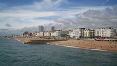 Beaches Amusement Beach England City Brighton Sea Clouds Vacation