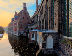 Clouds houses europe belgium rivers cities bruges wallpapers