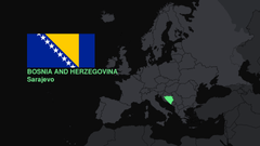 flags Europe maps Bosnia and Herzegovina