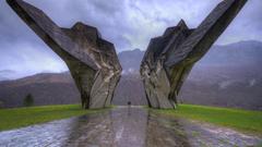 World War II monument Sutjeska National Park Bosnia and