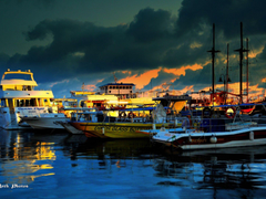 Paphos Waterfront Late evening Paphos Cyprus