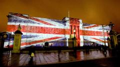 England London illuminated Buckingham Palace wallpapers